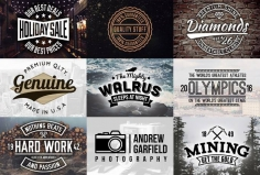 I will create, a vintage logo stamp for your company