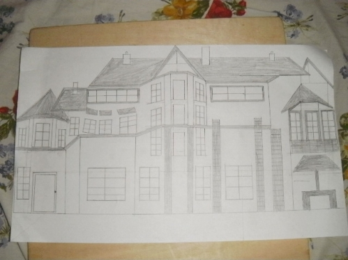Amazing ... Cccccc Draw Your House On Pencil And Paper ...