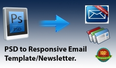 I will convert your PSD to Email Template