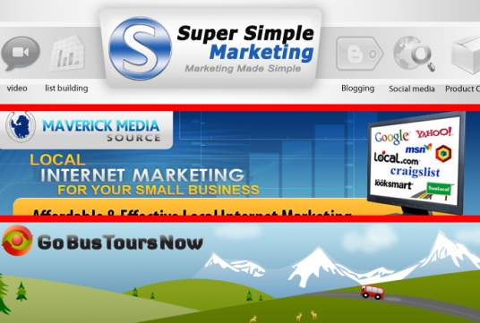 design creative and website header and banner