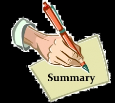 I will write abstract or executive summary