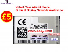 I will Provide Unlock Code for Any Alcatel Phone