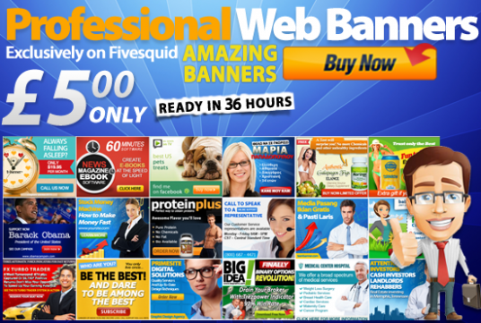 create a professional eye catching web banner design make a site
