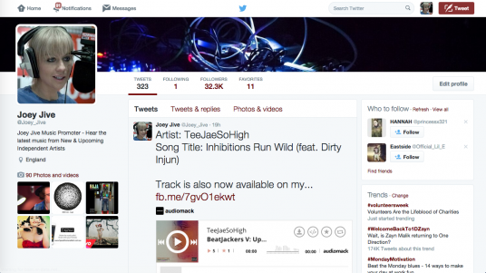 Tweet Your Song Advertisement to 40k Teen Followers on Twitter and 20k on Facebook