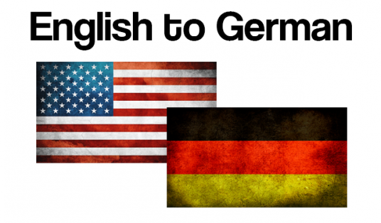 translate ANY text up to 400 words from English to German