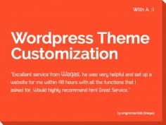 I will do WordPress Theme Customization With A Smile