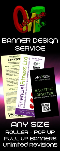 I will design a Roller banner, pop-up banner or pull up banner