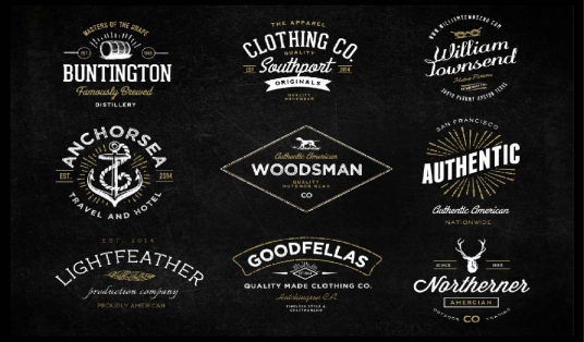 design eye catching vintage retro badge logo with in