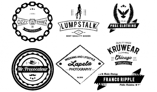Design eye catching vintage , retro , badge logo with in 24hrs ...