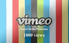 I will add 1000 Vimeo views for your video