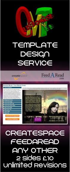 I will help with your createspace, feedaread or other self publishing template