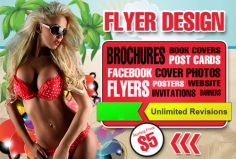 I will design AMAZING flyer, poster, brochure card, Cover photo