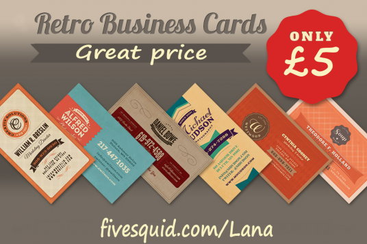 Design a vintage business card for 5 lana fivesquid design a vintage business card reheart Gallery