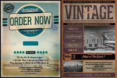 I will design retro VINTAGE flyer