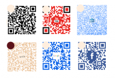 I will create a custom QR code with your logo