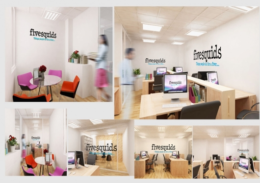 Design 7 Realistic Virtual Office Mockup