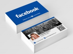 I will design your facebook style business card only on fivesquid