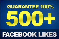 I will add 500 Real Facebook Fan page likes