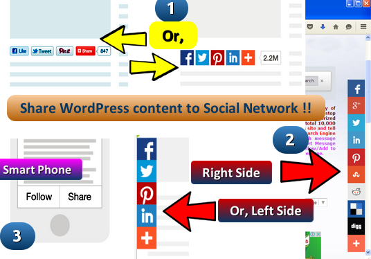 add Share tools to share content to Facebook, Twitter, LinkedIn, Pinterest, Reddit etc