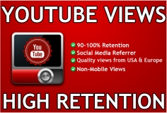 I will add 10,000+ High Retention SAFE Youtube Views  Or 2500 Instagram Followers
