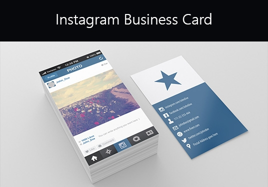 Design INSTAGRAM Style Business Card for £5 : xerone - fivesquid