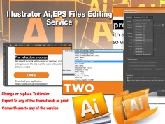 I will Edit, update or modify Adobe illustrator .ai, .EPS Files