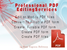 I will Edit, update, modfiy or create PDF File