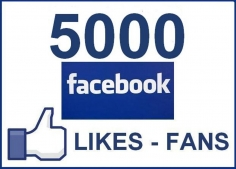I will add Real 5000 Facebook post likes or 500 Fan page