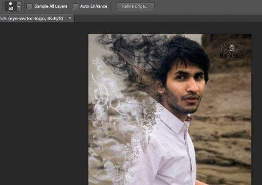 I will give dispersion smoke effect to your photos