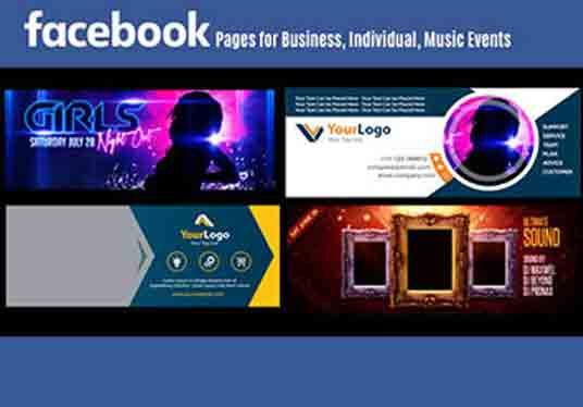 design facebook, youtube, twitter, social media cover pages!