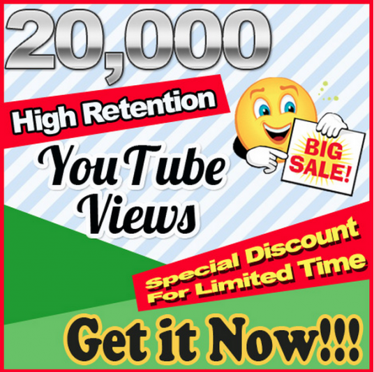 I will add 20,000+ High Retention Youtube views