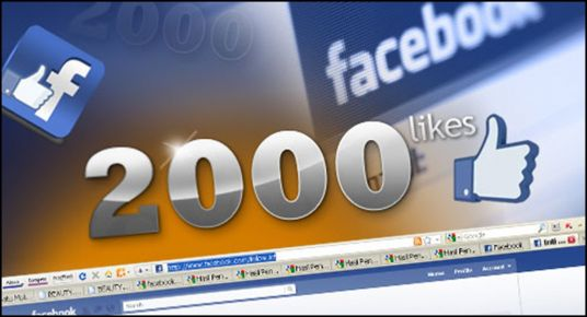 I will give you 2000 Real Facebook Fan page likes 100% Non Drop