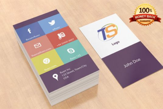 I will design FLAT business card for you