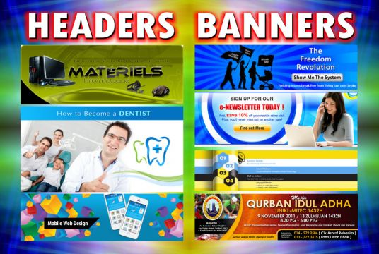 I will design a professional header or banner
