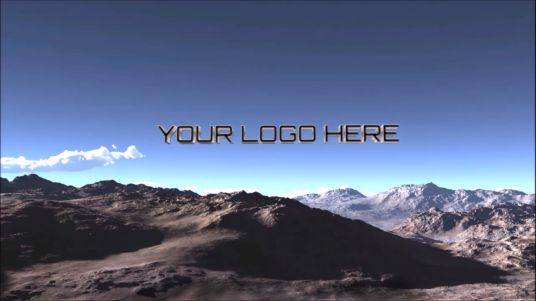cccccc-fly Camera on the mountains with Logo 3D