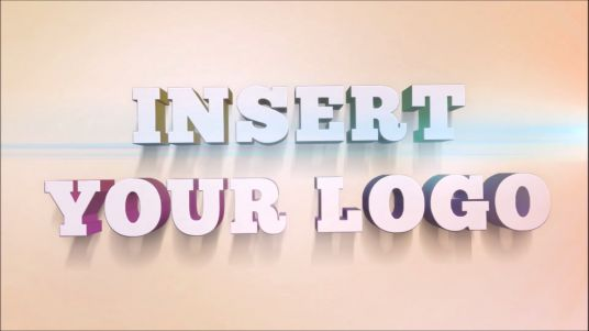 Elegant video 3D Intro with your Logo