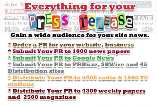 I will submit your press release or article to 1200 daily papers