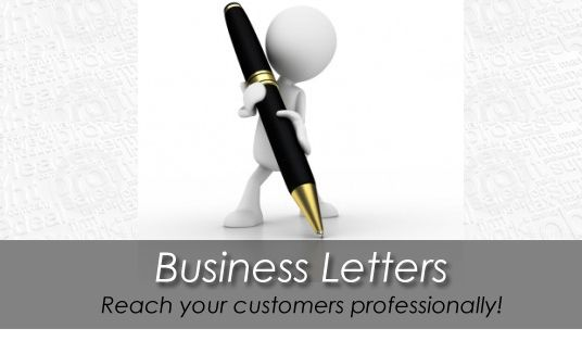 Write A Professional Business Or Sales Letter For Your Company