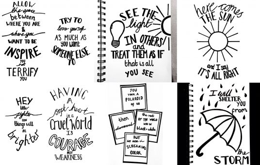 I will create a typography of any quote, song lyrics, or phrase