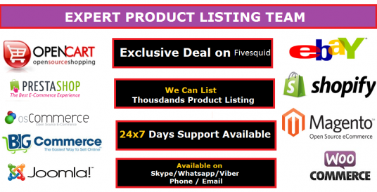 I will do 10 Product Listing on any eCommerce site