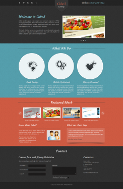 build an awesome Landing Page for your website