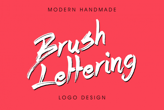 I will make Logo or artwork in Brush lettering