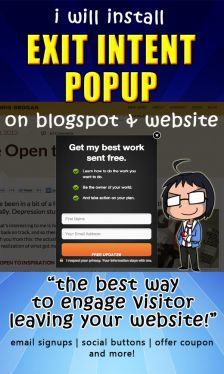 install Exit Intent Popup on your blog or website
