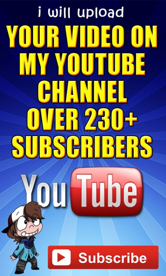 I will upload your video on my Youtube Channel with 230+ subscribers