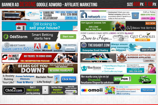 design an awesome web banner