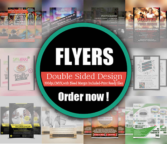 I will Design an creative double-sided flyer/poster/leaflet design within 24 hours