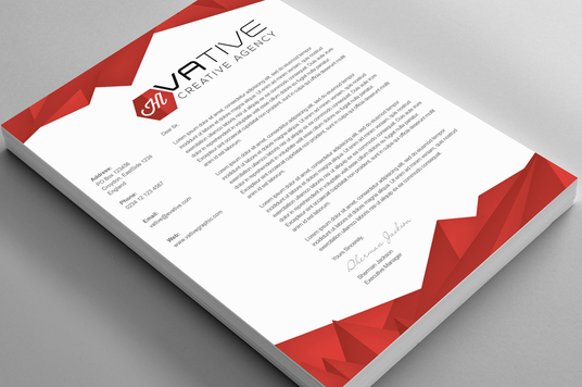 design a creative and professional looking letterhead