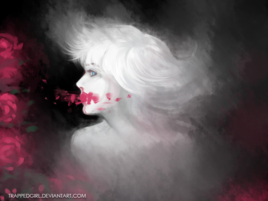 I will paint any black and white portrait like this