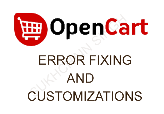 I will do open cart issue fix and customizations