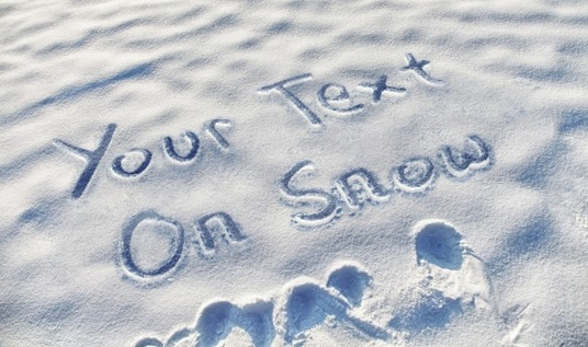 create a sand and snow writing photograph in HD quality